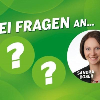 Drei Fragen an Sandra Boser