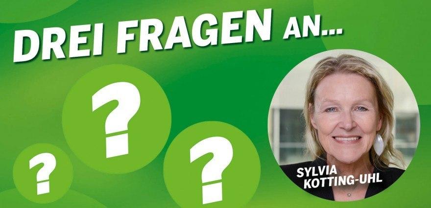 Grafik: Sylvia Kotting-Uhl und drei Fragezeichen