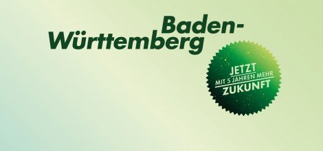 Grafik: Baden-Württemberg - Jetzt mit 5 Jahren mehr Zukunft