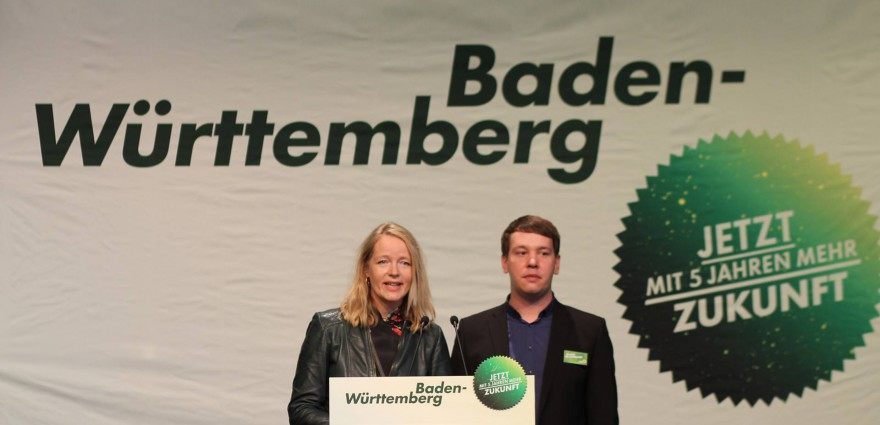 Foto: Thekla Walker und Oliver Hildenbrand auf dem Zukunftsforum Sigmaringen