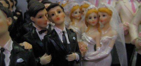 Foto: Homosexuelle Hochzeitspaare aus Zuckerguss wollen die Ehe für alle