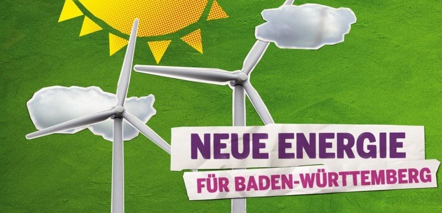Grafik: Windräder und Sonne - Neue Energie für Baden-Württemberg