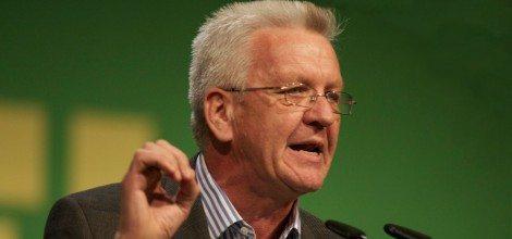 Foto: Rede von Winfried Kretschmann auf dem Bundesparteitag in Freiburg