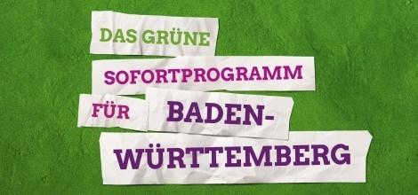 Grafik: Das Grüne Sofortprogramm für Baden-Württemberg