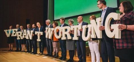 Foto: Grüne MinisterInnen, Landesvorstand und Fraktionsvorstand tragen Verantwortung
