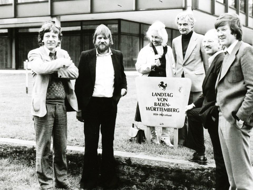 Foto: Die erste grüne Landtagsfraktion
