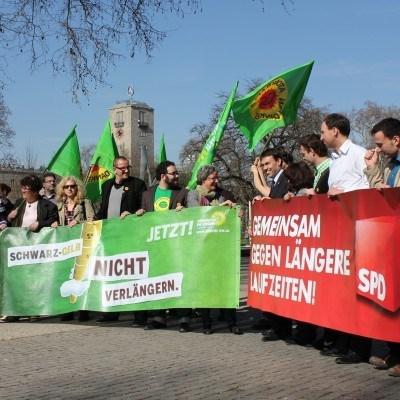 Foto: Grün-Rot gegen Atomkraft