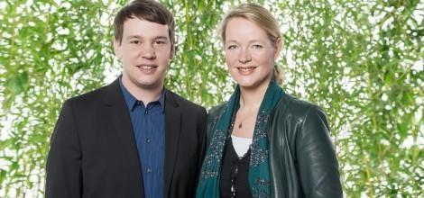 Foto: Grüne Landesvorsitzende Oliver Hildenbrand und Thekla Walker