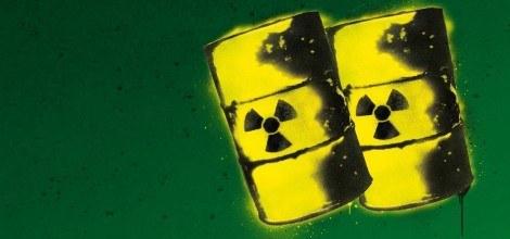 Grafik: Graffiti Fässer mit Atommüll