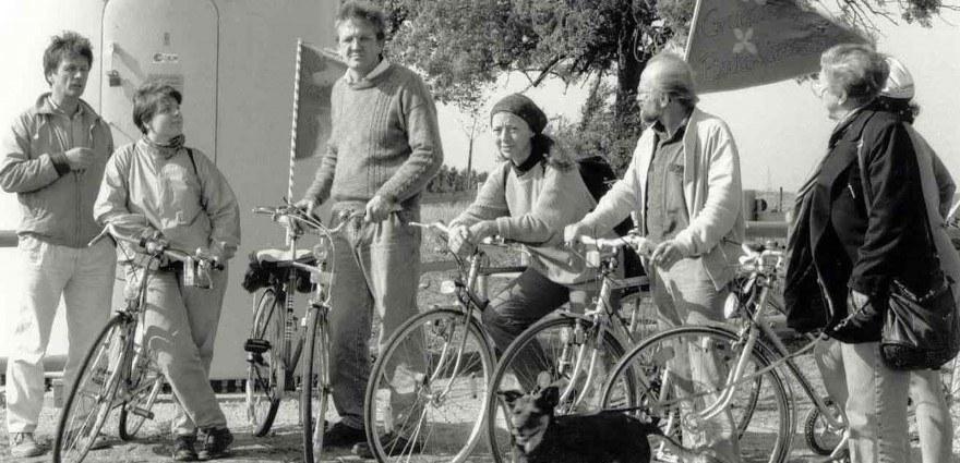 Foto: Radtour mit Winfried Kretschmann