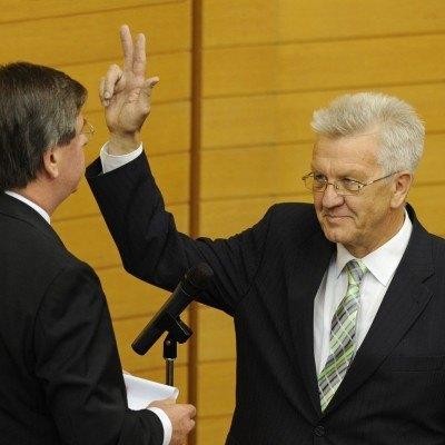 Foto: Vereidigung Ministerpäsident Winfried Kretschmann - StM