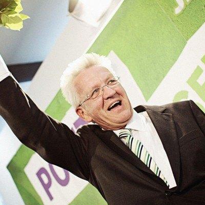 Bildnachweis: Kretschmann feiert Wahlsieg 2011
