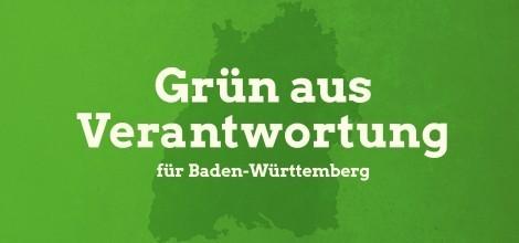 Grafik: Landesparteitag Reutlingen - Grün aus Verantwortung für Baden-Württemberg