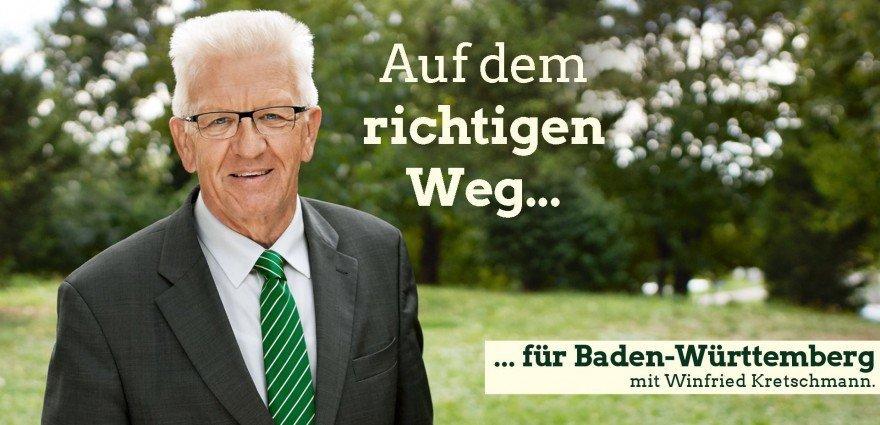 Grafik: Auf dem richtigen Weg für Baden-Württemberg mit Winfried Kretschmann