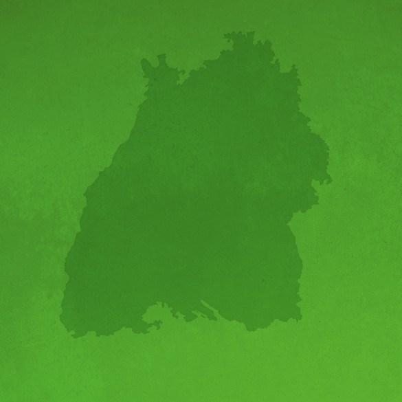Grafik: Baden-Württemberg Silhouette auf grün