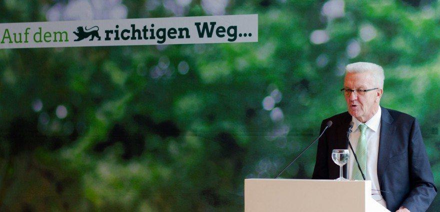 Foto: Grundsatzrede von Winfried Kretschmann im Haus der Architekten