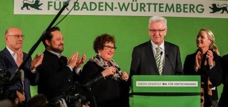 Foto: Grüne Wahlparty in der Stuttgarter Staatsgalerie