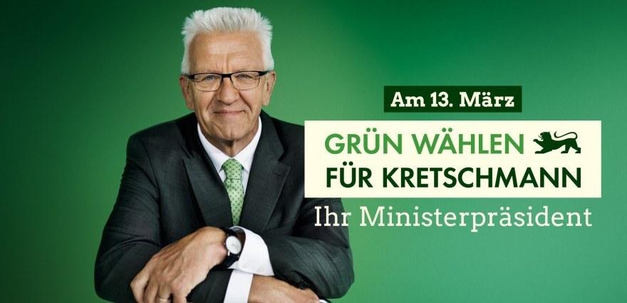 Foto: Grün wählen für Kretschmann