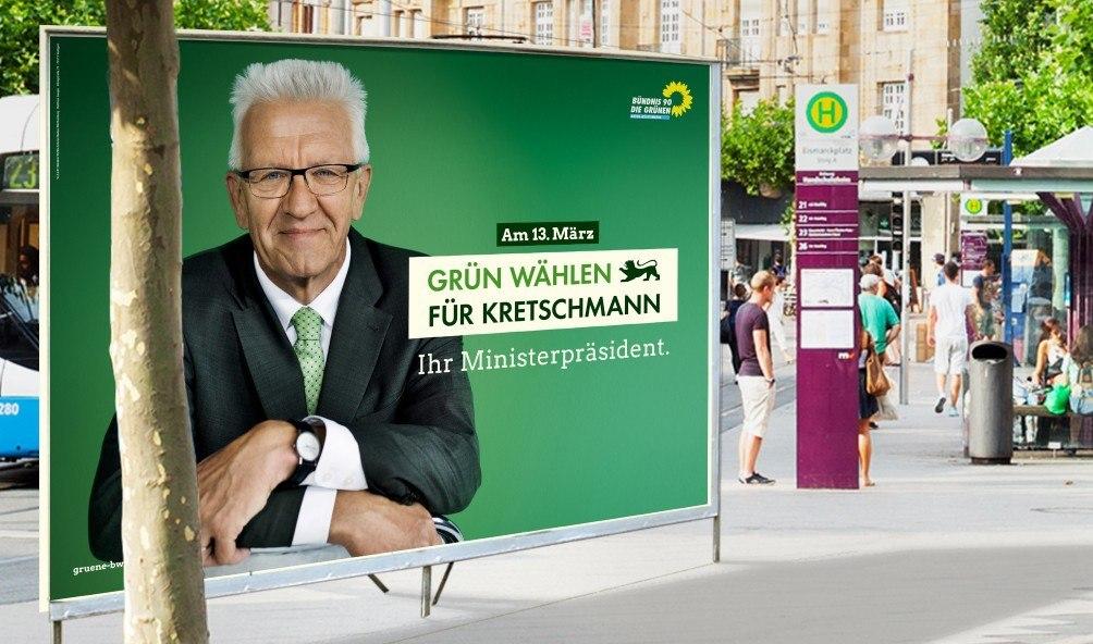 Foto: Plakat - Winfried Kretschmann - Ihr Ministerpräsident