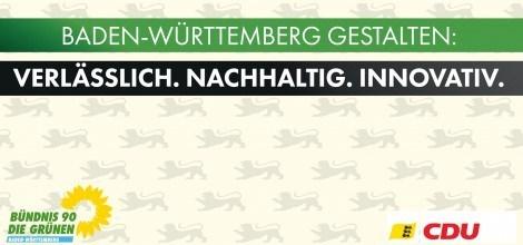 Grafik: Gruen-Schwarzer Koalitionsvertrag: Baden-Württemberg gestalten