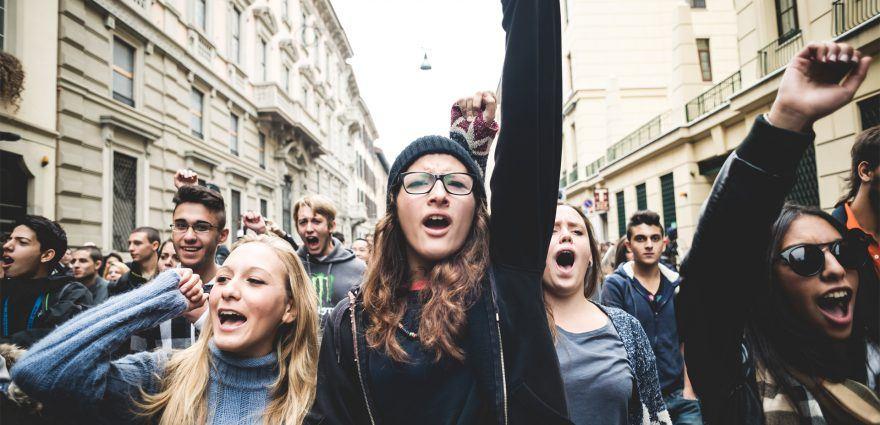 Foto: Junge Demonstrant*innen