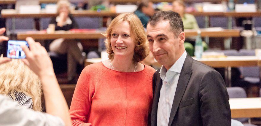 Foto: Unsere Spitzenkandidat*innen Kerstin Andreae und Cem Oezdemir