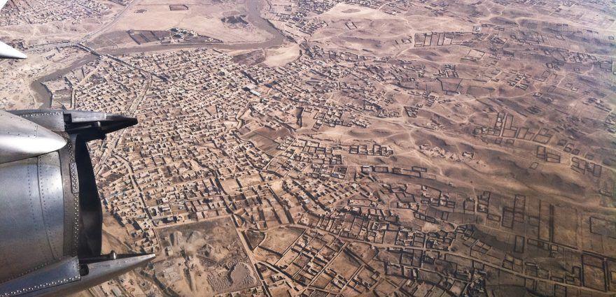 Foto: Blick auf Afghanistan aus dem Flugzeug