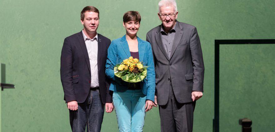 Foto: Oliver Hildenbrand Sandra Detzer und Winfried Kretschmann