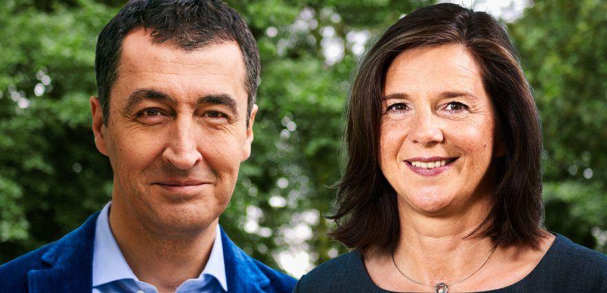 Foto: Grüne Spitzenkandidatin Katrin Göring-Eckardt und Spitzenkandidat Cem Özdemir