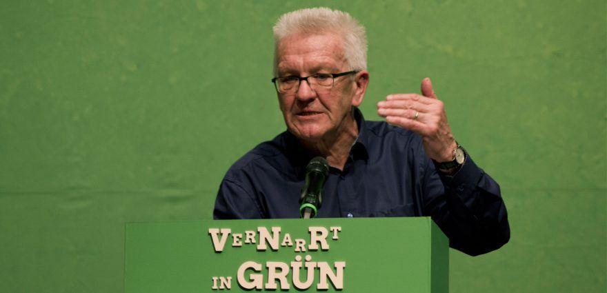 Foto: Winfried Kretschmann beim Politischen Aschermittwoch in Biberach