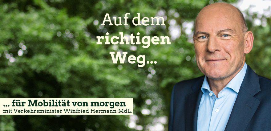 Foto: Auf dem richtigen Weg für Mobilität von morgen mit Verkehrsminister Winfried Hermann