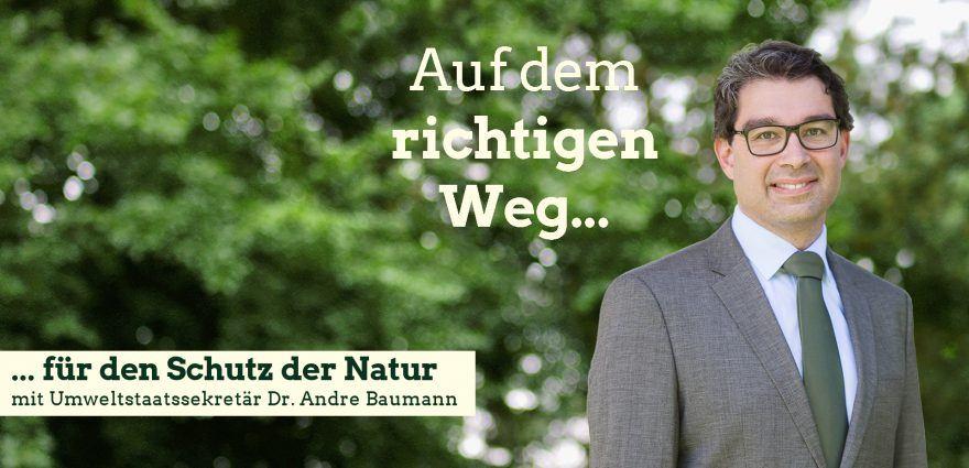 Foto: Auf dem richtigen Weg für den Schutz der Natur mit Umweltsstaatssekretär Andre Baumann