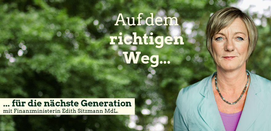Foto: Auf dem richtigen Weg für die nächste Generation mit Finanzministerin Edith Sitzmann