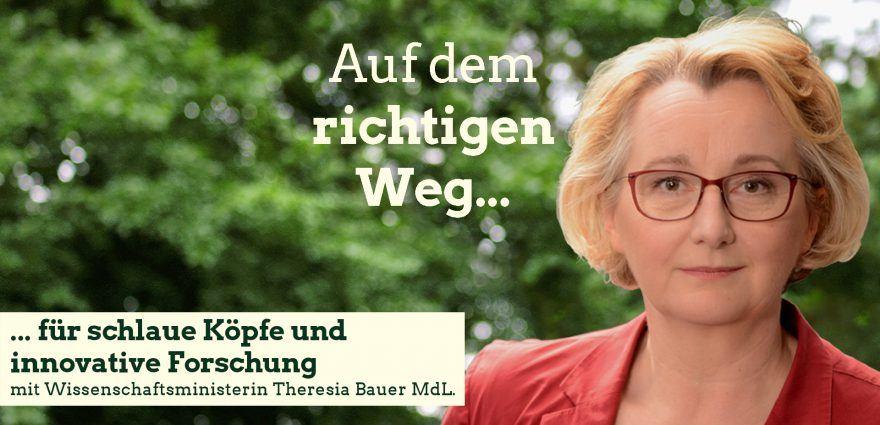 Foto: Auf dem richtigen Weg für schlaue Köpfe und innovative Forschung mit Wissenschaftsministerin Theresia Bauer
