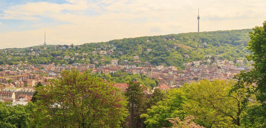 Foto: Blick auf Stuttgart von der Karlshöhe