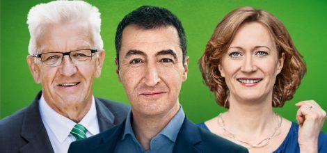 Foto: Winfried Kretschmann Cem Özdemir und Kerstin Andreae