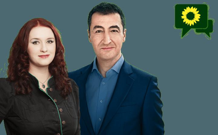 Grafik: Landesforum zu den Sondierungen-mit Agnieszka Brugger und Cem-Özdemir