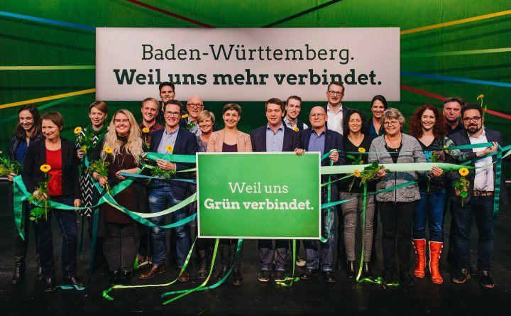 Foto: Der Grüne Landesvorstand auf dem Parteitag in Heidenheim