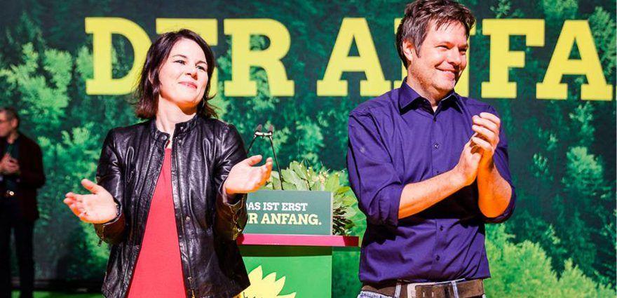 Foto: Die neuen grünen Bundesvorsitzenden Annalena Baerbock und Robert Habeck