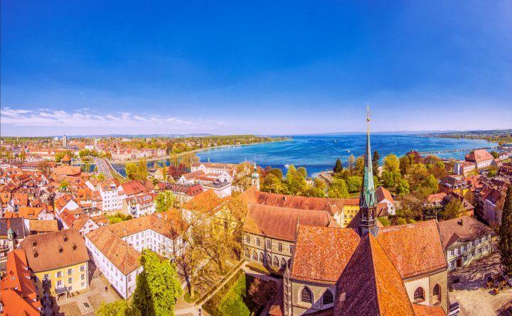 Foto: Blick auf die Universitätsstadt Konstanz von oben