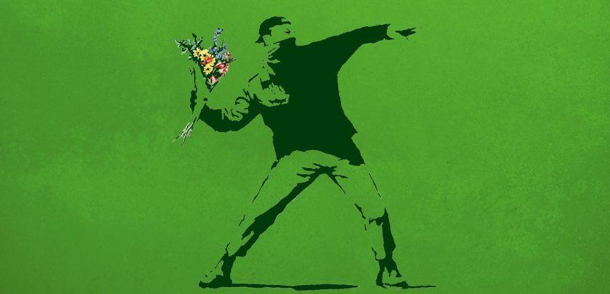 Graffiti: Banksy's Flowerbomber