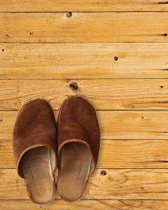 Foto: Einsame Pantoffeln