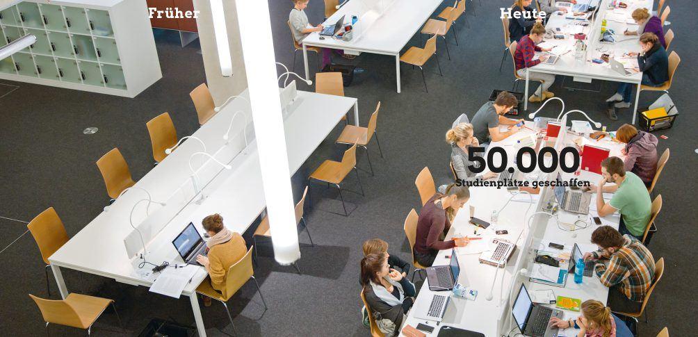 Foto: Studienplätze an der Universität Freiburg