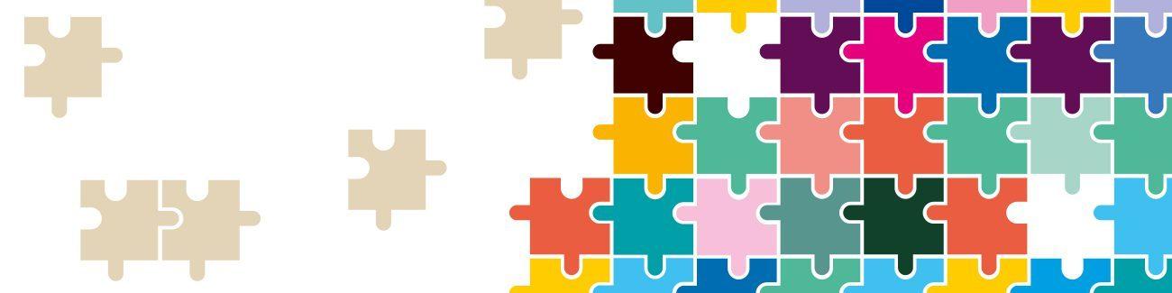 Illustration: Unsere Gesellschaft ist wie buntes Puzzle