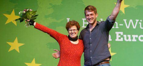 Foto: Unsere Europakandidaten Maria Heubuch und Michael Bloss