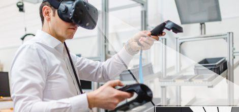 Fotomontage: Virtual Reality Experimente im Future Work Lab