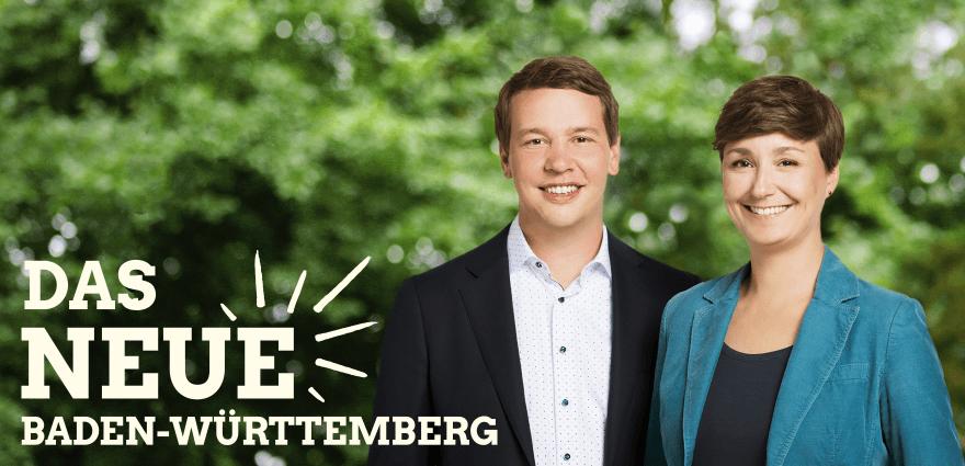 Foto: Landesvorsitzenden Oliver Hildenbrand und Sandra Detzer