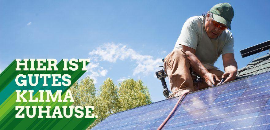 Foto: Hier ist gutes Klima zuhause - Photovoltaikanlage wird installiert
