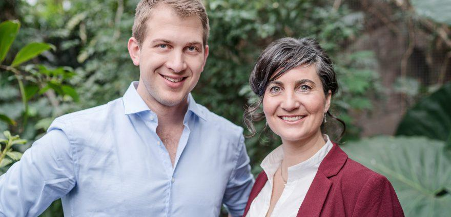 Foto: Europaabgeordnete Anna Deparnay-Grunenberg und Michael Bloss