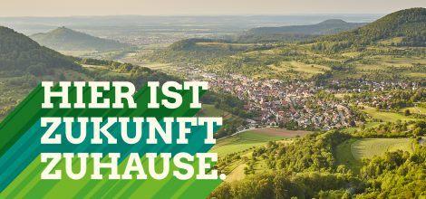 Foto: Hier ist Zukunft zuhause - Luftbild der Schwäbischen Alb